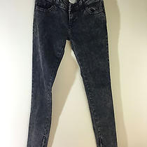 Urban Outfitters Lux Tapered Zip Acid Wash Grunge Jeans 26 Photo