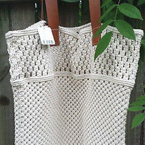 Urban Outfitters Macrame/string Tote Extra Large With Leather Handles New 109  Photo