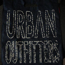 Urban Outfitters Reusable Navy Blue Shopping Tote Bag Sack 15