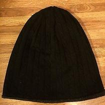 Urban Outfitters Reversible Black Cable-Knit Beanie Photo