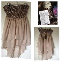 Urban Outfitters -Semi Formal Beige Strapless Dress- Brand New With Tags Photo