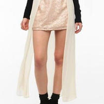 Urban Outfitters  Sequin Chiffon Paneled Maxi Mini Skirt Sz 10 Photo