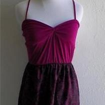 Urban Outfitters Silence & Noise Fuschia Tank Top Abstract Baby Doll Mini Dress Photo