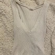 Urban Outfitters Silence  Noise White Knit Sweater Cropped Tank One Sz v Neck Photo