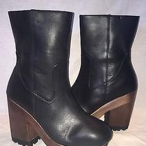Urban Outfitters Silence & Noise Women's Leather Side Zip Boot Retail 99 Size 7 Photo