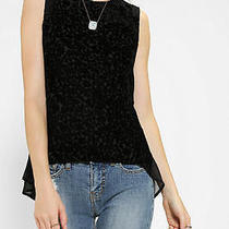 Urban Outfitters Staring at Stars Burnout Velvet Tank Top Black Xs Photo