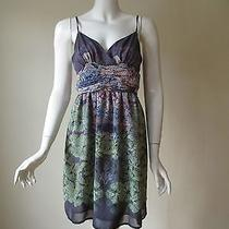 Urban Outfitters Staring at Stars Orchid Printed Baby Doll Mini Dress 10 or M Photo