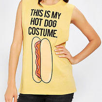 Urban Outfitters This Is My Hot Dog Costume Tunic Shirt (Women's Medium) Photo