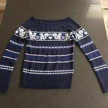 Urban Outfitters Tildon Women's Size M Navy Sweater Fun Print Photo