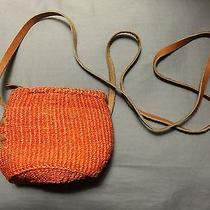 Urban Outfitters Urban Renewal Small Orange Woven Crossbody Bag Photo