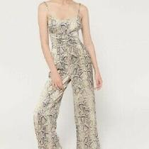 Urban Outfitters Women's Blythe Snakeskin Print Corset Jumpsuit Size Large Photo