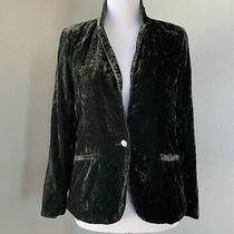 Urban Outfitters Women's Jacket Green Velvet 70s Inspired Blazer Size Small Photo