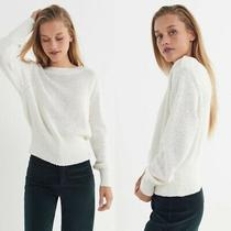 Urban Outfitters Womens Size Large L Coco Textured Pullover Sweater White Photo
