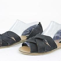 Urban Outfitters Womens Bdg Strappy Leather Sandals Black 8 New Photo