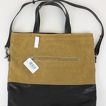 Urban Outfitters Womens Suede Two Tone Tote Purse Tan Black Osfm New Photo