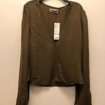 Urban Outfitters Wrap Blouse Sz M Msrp 59 Nwt Photo