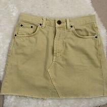 Urban Outfitters Yellow Denim Skirt Size Small Photo