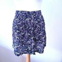 Urban Renewal Urban Outfitters Size S 10 Uk  Skirt Floral Flippy Short  Photo