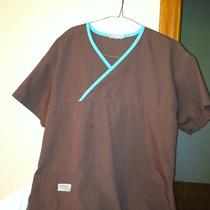 Urbane Scrub Top(s)brown/aqua Trim (Have Pants if Interested) Photo