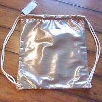 Urbanica  New Nwt  Blush Metallic Pink Braided Rope Backpack Drawstring Bag Photo
