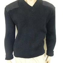 Us Army Acrylic Commando v-Neck Sweater Black Size Small Photo