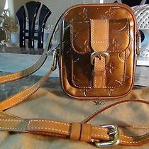 Us Seller Authentic Louis Vuitton Vernis Christie Pm Small Bag Purse Bronze Lv Photo