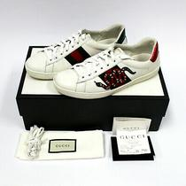Us Size 7 1/2  Gucci Ace Low Top Sneakers Snake Embroidery  W/ Box & Receipt Photo