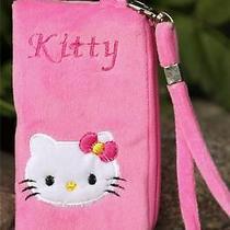 Usa Hello Kitty Coin Purse Plush Zipper Wallet Cell Bag Hot Pink  Fdf5 Photo