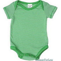 Usa New Splendid Baby Boys Infant Newborn 18 24 Mo Android Green Romper Bodysuit Photo