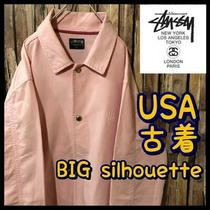 Usa Old Clothes Stussy Coach Jacket Shirt Long Sleeves Pink Size L Photo