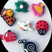 Usa Seller 7 Girls & Boys Shoe Charms Crocs Jibbitz Bracelet Child Gift Photo