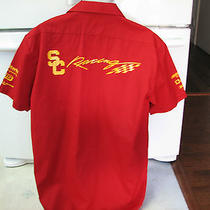 Usc Trojans Racing Team Uniform Shirt Formula Sae Race Cars Large Rare Photo