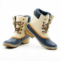 Use Sorel Womens Slimpack Lace Ii Boot Oatmeal / Collegiate Navy 12 Us / 43 Eur Photo