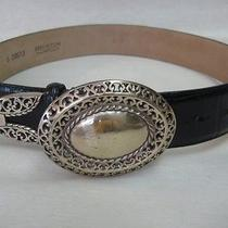 Used 1995 Brighton Black Leather Belt S39913 27