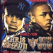 Used 2007 Chris Brown Bow Bow Tour Small T Shirt Concert Rap Hip Hop Music Band Photo