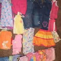Used 32 Pcs Baby Girl 3t Clothes Lot Spring & Summer Gapdisneycarters and More Photo