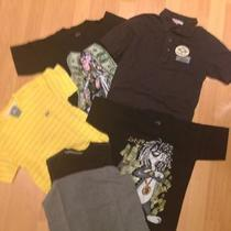 Used 5 Nice Boys Shirts Size 6 Lacoste and Other     Db Photo