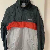 Used Adidas Parker Nylon Jacket Vintage Size M no.15586 Photo