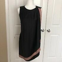 Used Adrianna Papell Black/blush Dress Size 4 Photo
