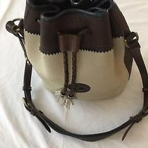 Used Authentic Dooney and Bourke Tan/brown Drawstring Tote Photo