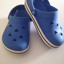 Used Blue Disney Crocs Size J 2 Photo