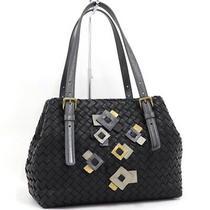 Used Bottega Veneta Tote Bag Intrecciato Black Leather Photo
