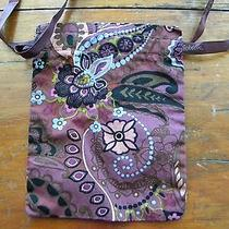 Used Brighton Fabric Drawstring Gift Pouch Brown Floral No Other Item Included Photo