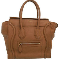 Used Celine Luggage Series Micro Shopper Tote Women 'S Handbags Week Warranty Photo
