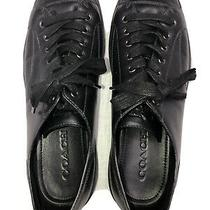 Used Coach Leather Low-Cut Sneaker Black Mens Size 13d. G1646. Photo