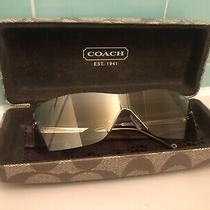 Used Coach Sunglasses Women Gwen S317 Smoke With Case & Cloth Hard to Find Style Photo