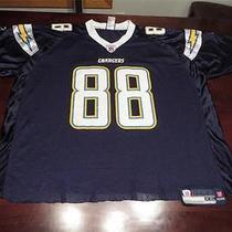 Used Cut Reebok Mens Cool Eric Parker San Diego Chargers Nfl Swag Jersey Sz 2xl Photo