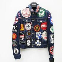 Used Dsquard2/dsquared 17s/s Denim Jacket Size 34 Color Navy System Import Photo