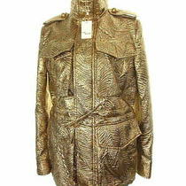 Used Dsquared Dsquared2 Jacket 38 Gold Silk Mixed Embossed Stand Color Photo