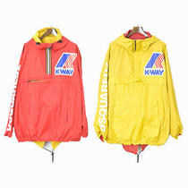 Used Dsquared2 17aw K-Way Reversible Nylon Pullover Jacket Mens Red Yellow Xl Photo